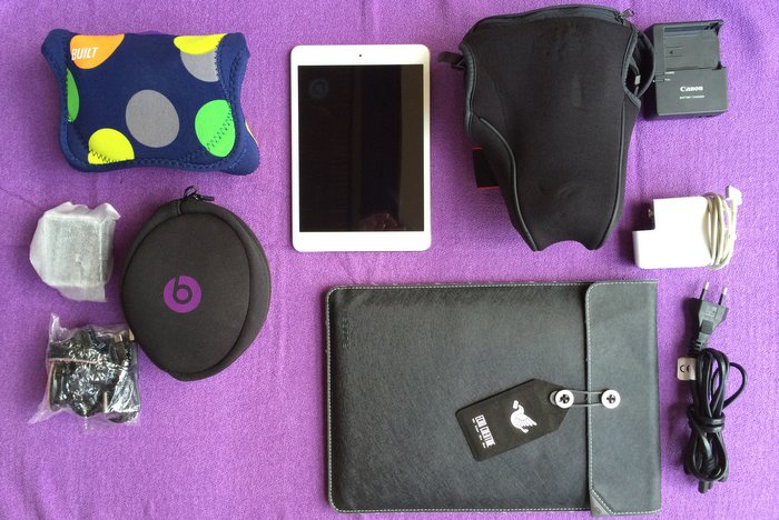 Packliste-fuer-Frauen-Technik-verpackt