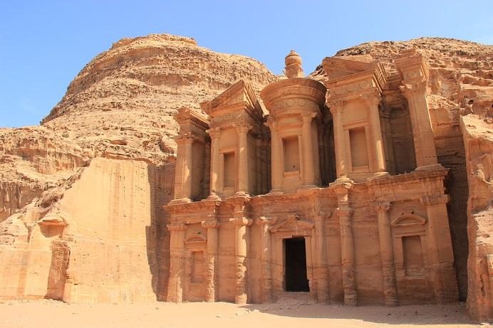 Petra Jordanien: Monastry im inneren der Felsenstadt