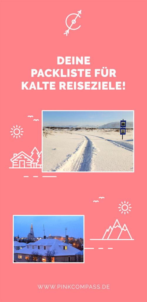 Deine Packliste für kalte Reiseziele!