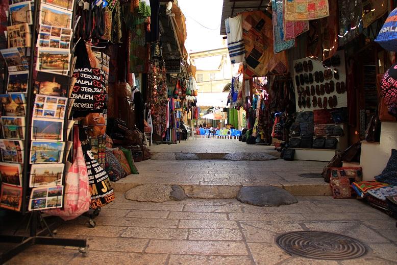 Die Straßen in Jerusalems alter Stadt gleichen einem Basar