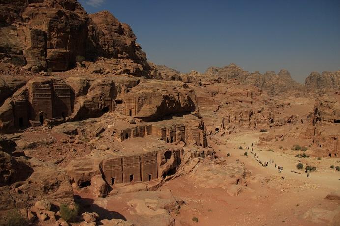 Petra Jordanien: Der Ausblick über das Tal