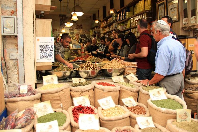 Marktstand in Jerusalem, Israel