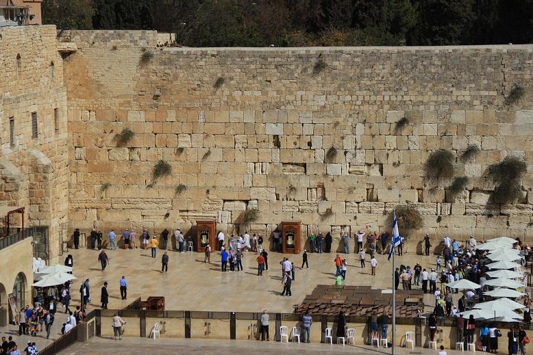 Die Klagemauer in Jerusalem, Israel