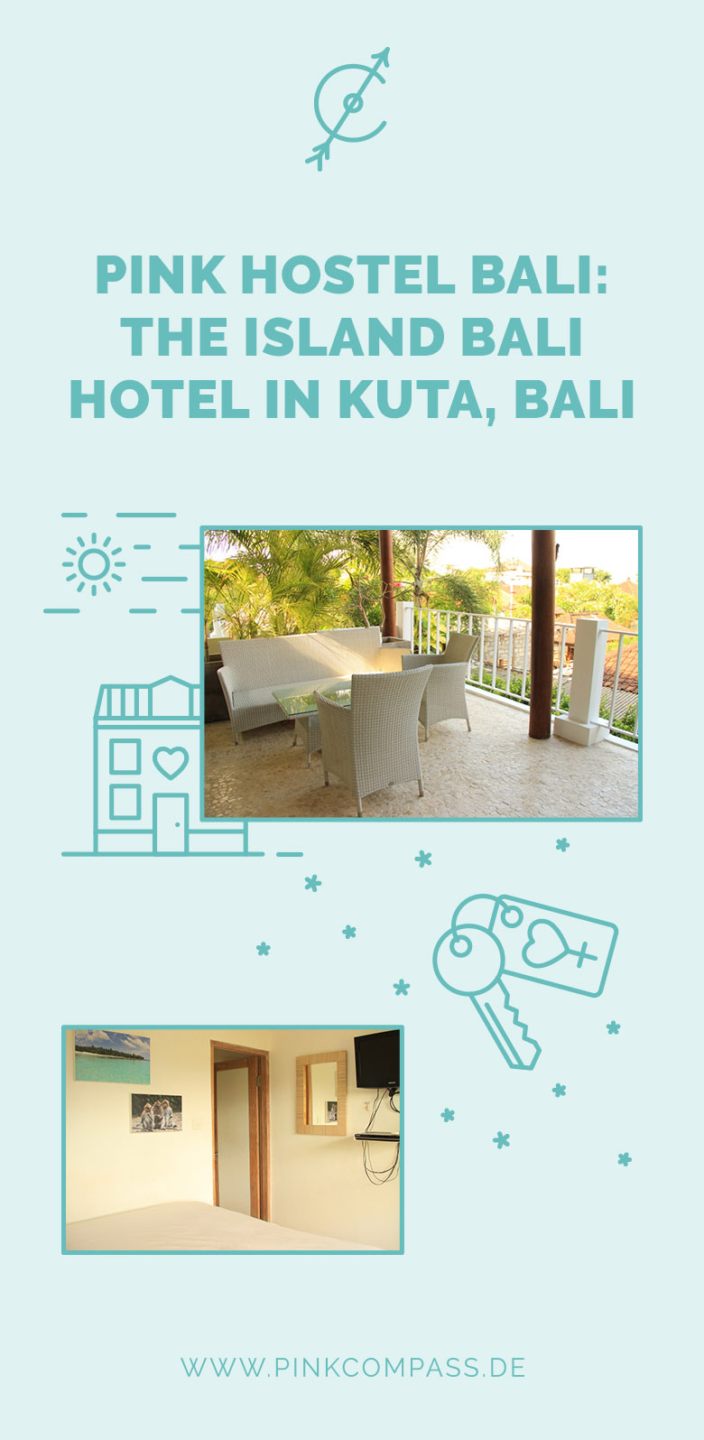 Hostel in Bali: The Island Bali Hotel in Kuta (Pink Hostel)