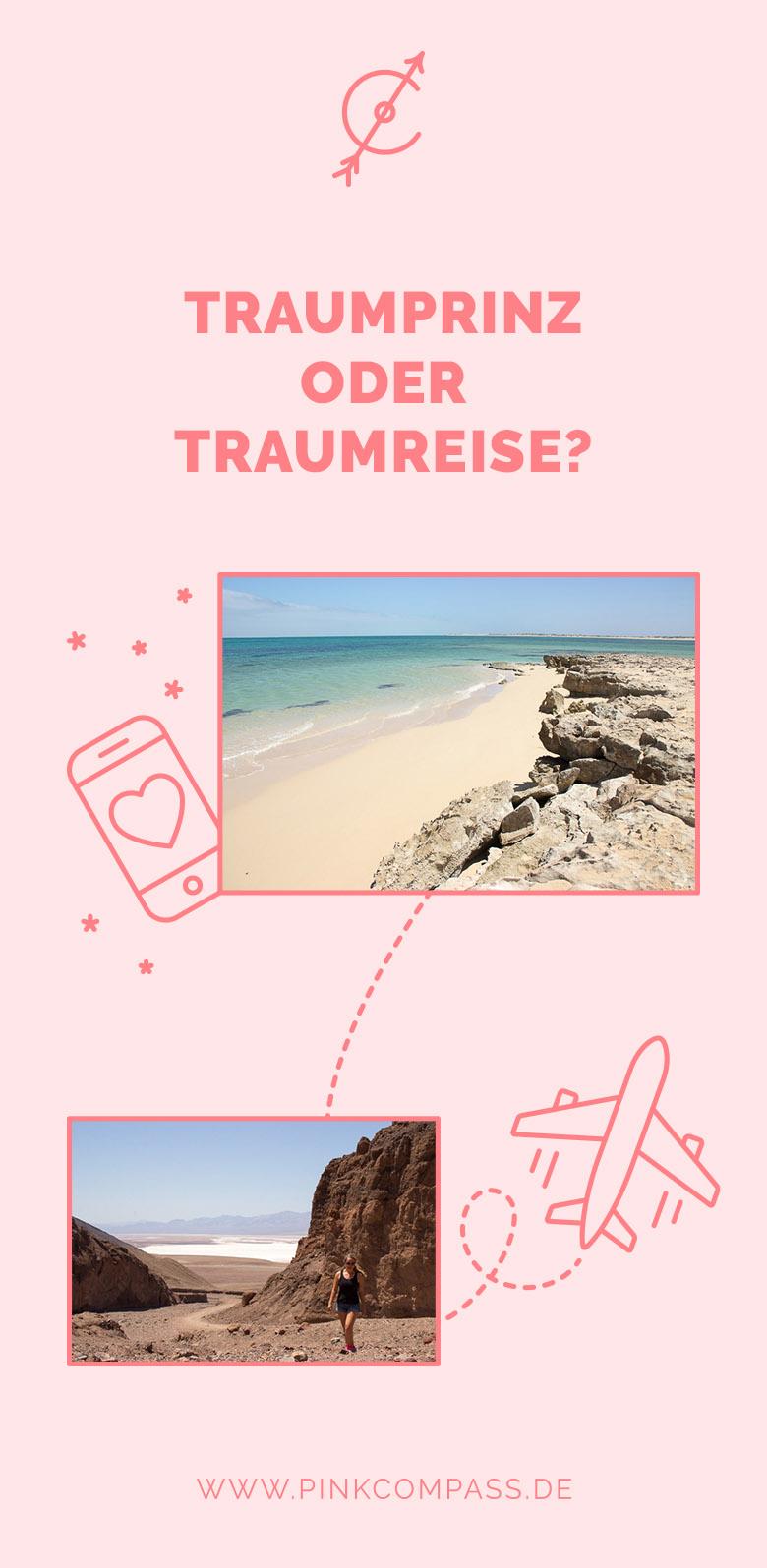 Wahl zwischen Traumprinz und Traumreise