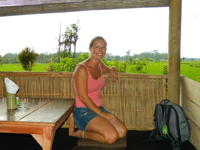 Alleine im Restaurant in Bali