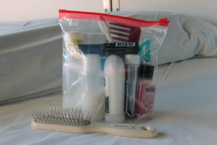 Packliste - Handgepäck für lange Zugfahrten - Kulturbeutel