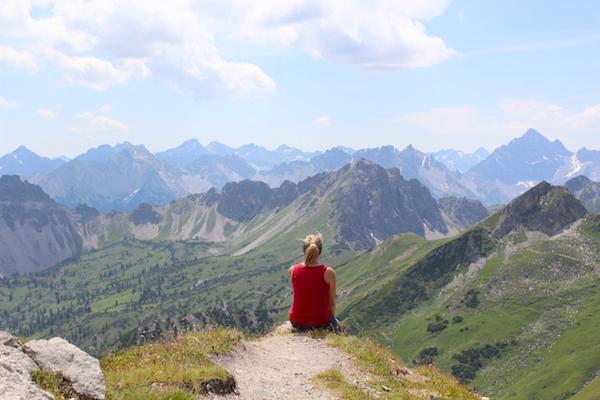 Alleine Wandern - Alpenpanorama