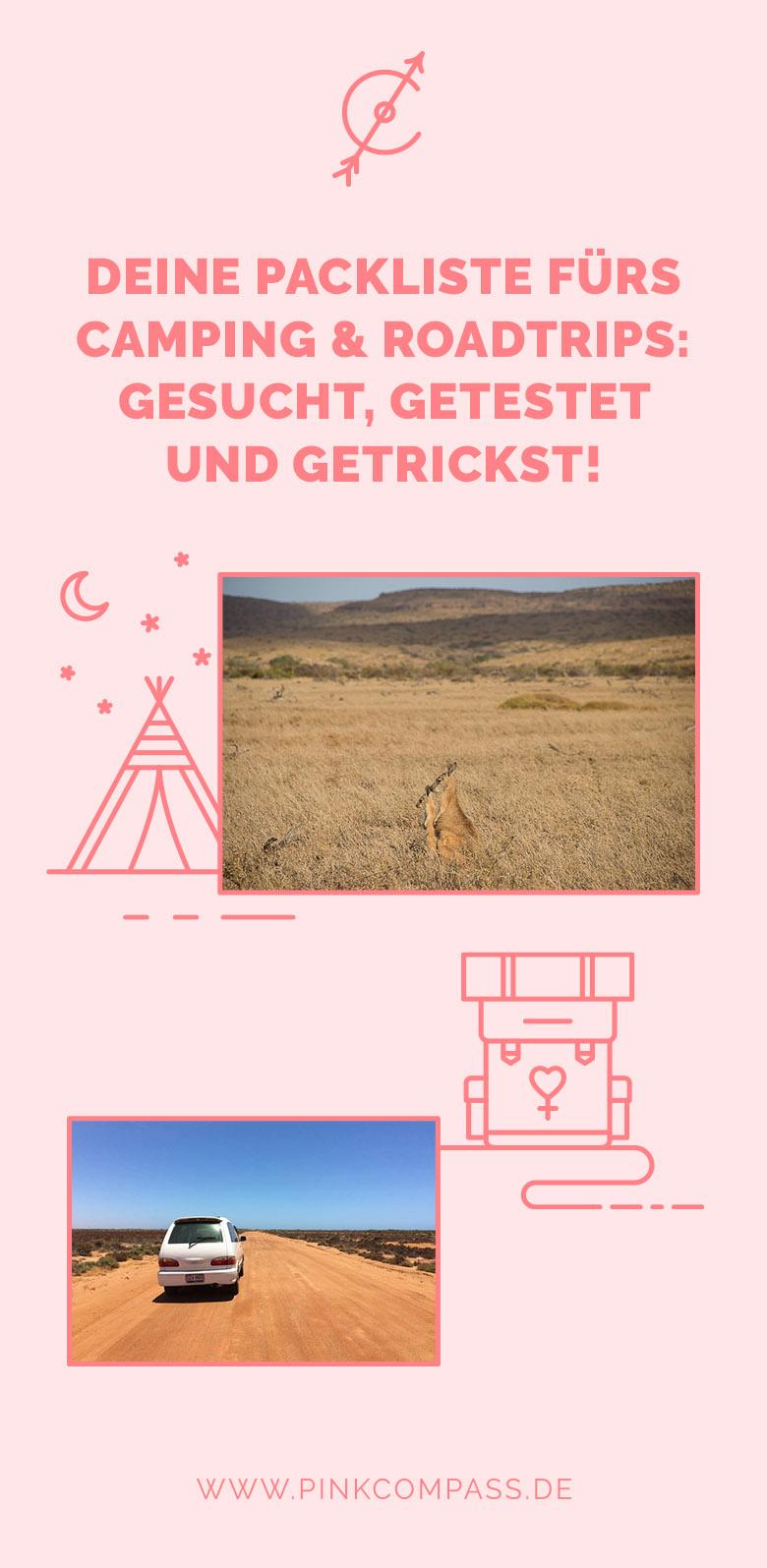 Die ultimative Packliste für Roadtrips und Camping!