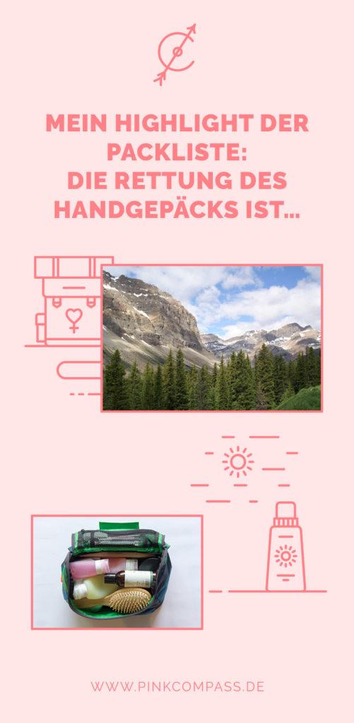 Deine Packliste für Handgepäck